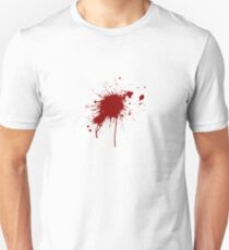 Blood spatter from a bullet wound T-Shirt