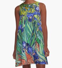 Irises by Vincent van Gogh A-Line Dress