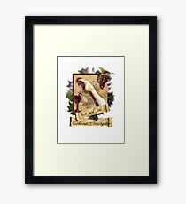 DRIPPING WINE Framed Print