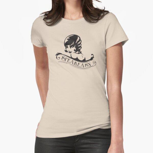 Speakeasy (black) Fitted T-Shirt