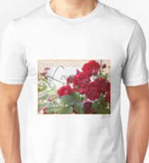 Red Roses, Love and Lace Unisex T-Shirt
