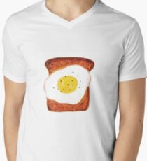 Egg on Toast Men's V-Neck T-Shirt