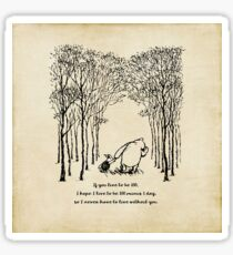 Winnie the Pooh - If you live to be 100 Sticker