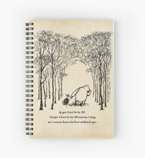 Winnie the Pooh - If you live to be 100 Spiral Notebook