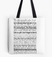 Quotes - Collection of Young Adult Book Quotes Tote Bag