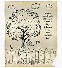 Winnie the Pooh - Today is my new favorite day Poster