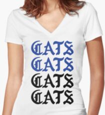 cats cats cats cats Women's Fitted V-Neck T-Shirt