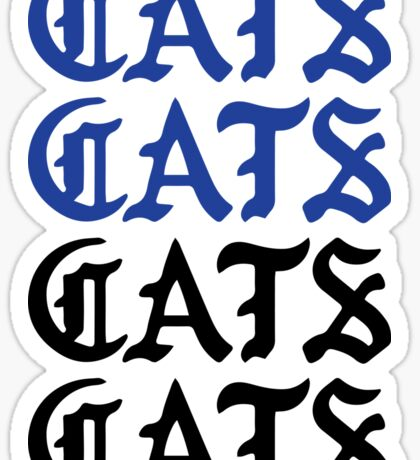 cats cats cats cats Sticker