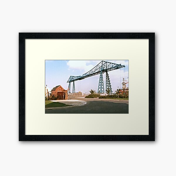Transporter Bridge. Framed Art Print