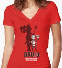 AFTER SCHOOL WARRIORS: DRUID Women's Fitted V-Neck T-Shirt