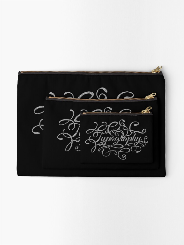 Alternate view of Typography on Typography Zipper Pouch