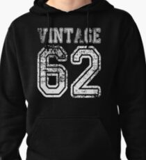 Vintage 62 2062 1962 T-shirt Birthday Gift Age Year Old Boy Girl Cute Funny Man Woman Jersey Style Pullover Hoodie