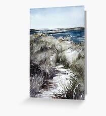Scotish environment along seashore Greeting Card