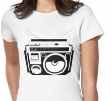 1980s Boombox in da hood Womens Fitted T-Shirt