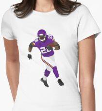 Adrian Peterson Run Art Womens Fitted T-Shirt