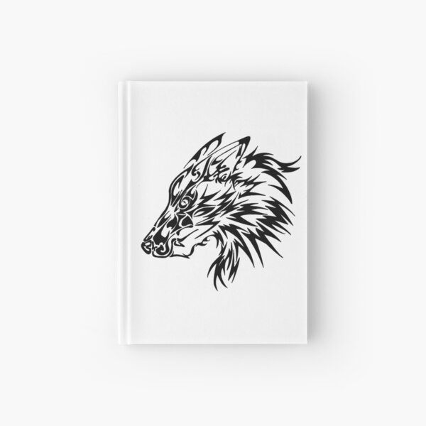 Tribal Wolf Hardcover Journal