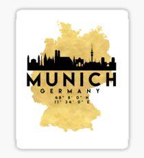 MUNICH GERMANY SILHOUETTE SKYLINE MAP ART Sticker