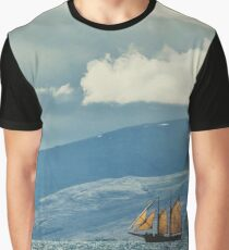 Husavik Sailing Ship Graphic T-Shirt