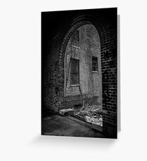 Pilgrim Psychiatric Center Abounded Building Arch View | West Brentwood, New York Greeting Card
