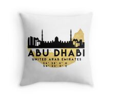 Abu Dhabi United Arab Emirates Silhouette Skyline Map Art Photographic Prints By Deificusart