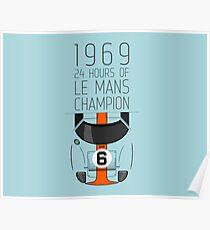 1969 Race Winner Poster
