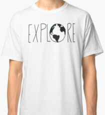 Camiseta clásica Explora el mundo