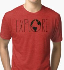 Explore the Globe Tri-blend T-Shirt