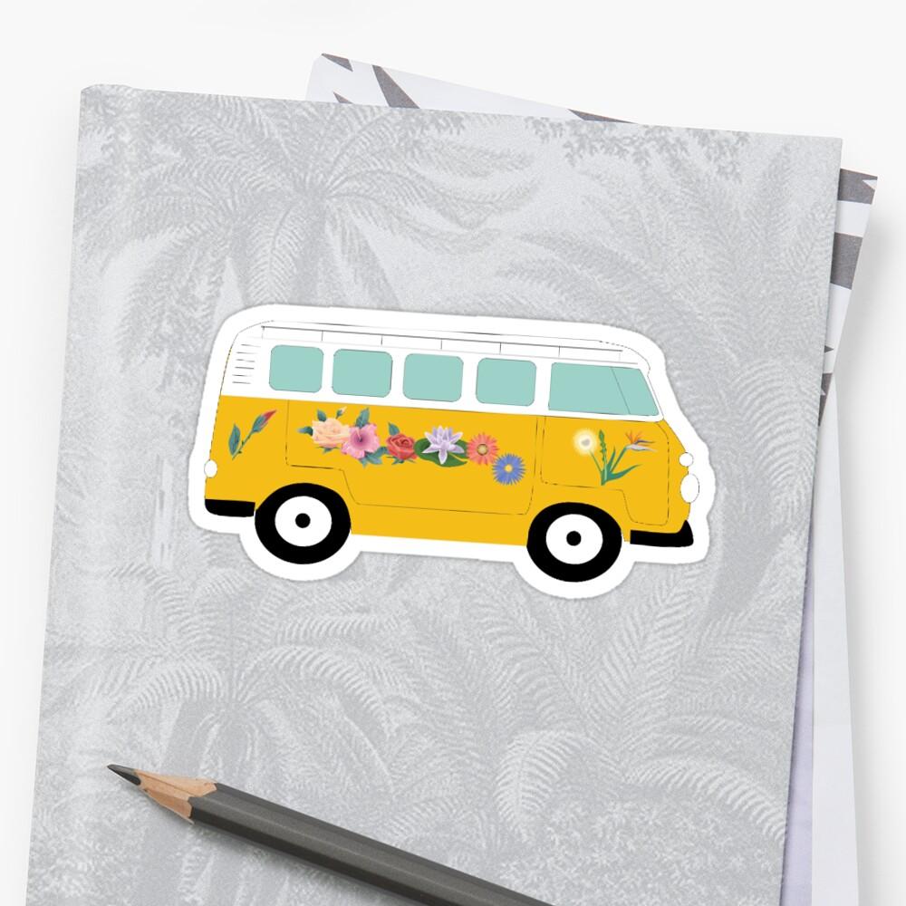 Weinlese Van Sticker