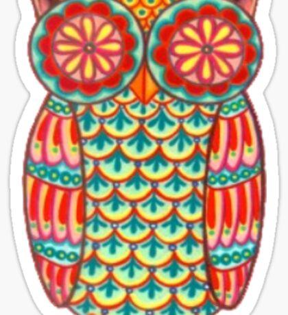 Funky Owl Sticker
