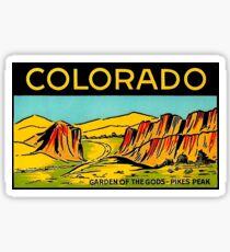Colorado Garden of the Gods Vintage Travel Decal Sticker