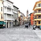 Faenza street with buildings by Giuseppe Cocco