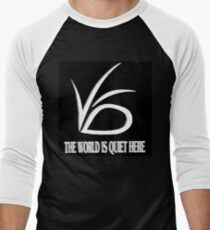 The World is Quite Here Men's Baseball ¾ T-Shirt