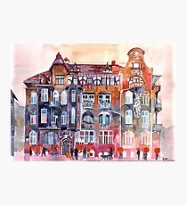 apartment house in Poznan Photographic Print