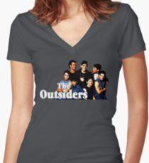 Camiseta entallada de cuello en V Los forasteros