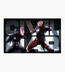 Steve vs Tony Photographic Print