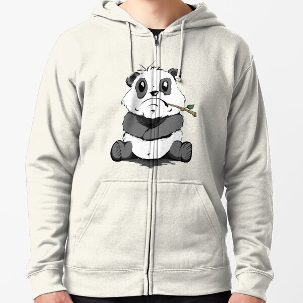 Bad Mood Panda Zipped Hoodie