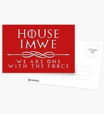 House Imwe - white Postcards