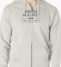 House Malbus - black Zipped Hoodie
