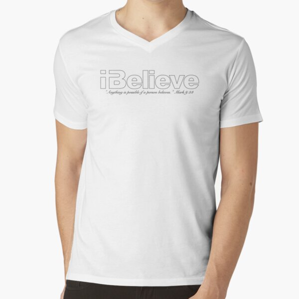 I Believe (Black Imprint) V-Neck T-Shirt