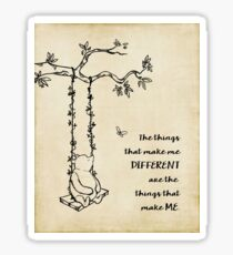 Winnie the Pooh - The things that make me different Sticker