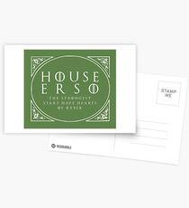 House Erso - white Postcards