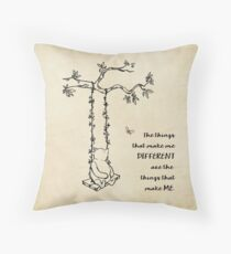 Winnie the Pooh - The things that make me different Throw Pillow