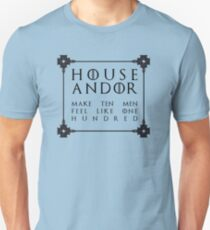 House Andor - black Slim Fit T-Shirt