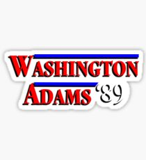 Washington - Adams - 1789  Sticker