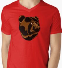 Bruins Pooh Bear Men's V-Neck T-Shirt