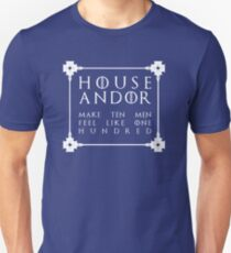 House Andor - white Slim Fit T-Shirt