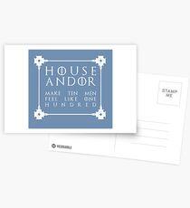 House Andor - white Postcards