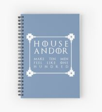House Andor - white Spiral Notebook