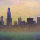 Chicago Skyline on Foggy Day by Brian Gaynor