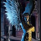Robot Angel Painting 027 by Ian Sokoliwski